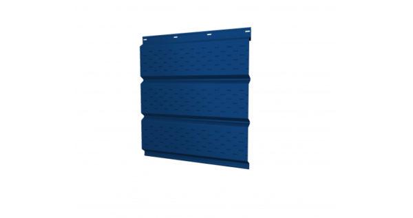 Софит металлический полная перфорация 0,5 Satin с пленкой RAL 5005 сигнальный синий