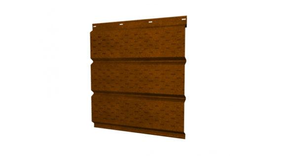 Софит металлический полная перфорация 0,45 Print Twincolor с пленкой Golden Wood