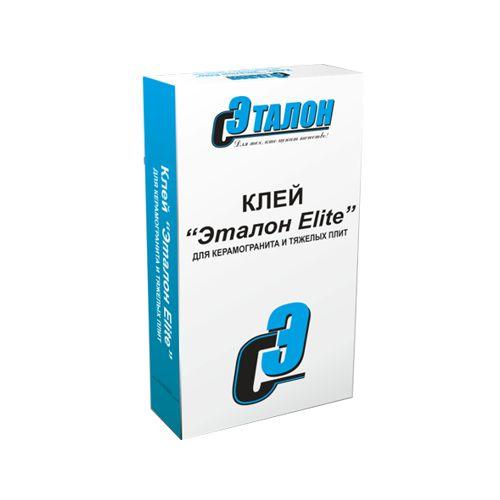 Клей для керамогранита и тяжелых плит Эталон Elite 25кг
