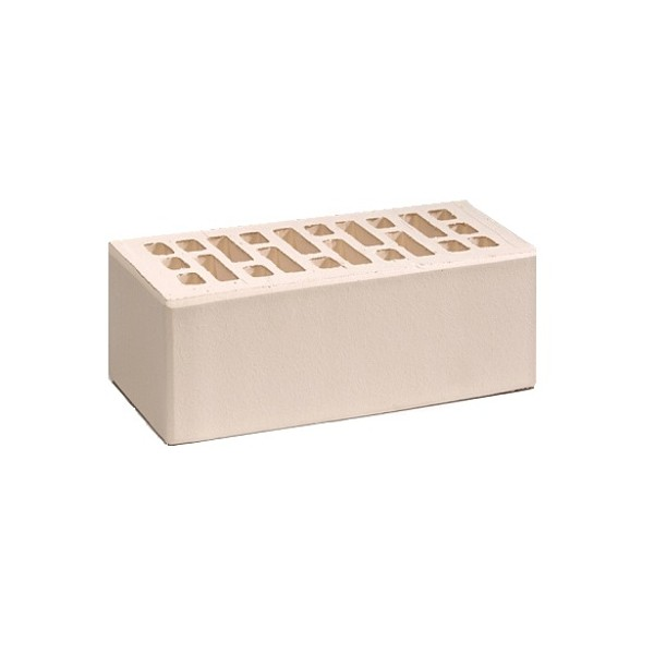 Кирпич Воротынский облицовочный, белый жемчуг, одинарный УС