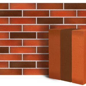 Клинкер фасадный красный флэшинг Ричмонд 0,71NF винтаж