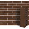 Клинкер фасадный коричневый Мюнхен 0,71NF гладкий