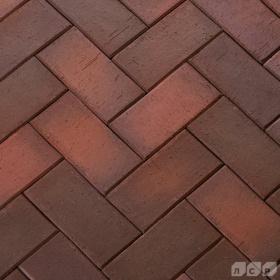 Клинкер тротуарный тёмно-красный флэшинг Глазго 0,51 NF ЛСР