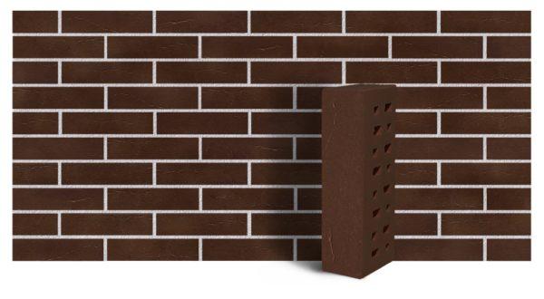 Клинкер фасадный коричневый Кёльн 0,71 NF винтаж ЛСР
