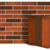 Клинкер фасадный красный флэшинг Ноттингем 0,71NF береста