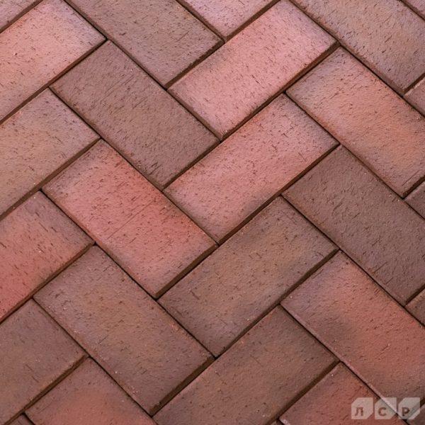 Клинкер тротуарный красный флэшинг Ноттингем 0,51 NF ЛСР