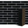 Клинкер фасадный чёрный глянцевый Рейкьявик 0,71NF гладкий