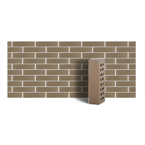 Клинкер фасадный песчано-серый б/ф 0,54NF гладкий ЛСР