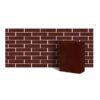 Клинкер фасадный темно-красный ангобированный тип 6Т 0,48NF