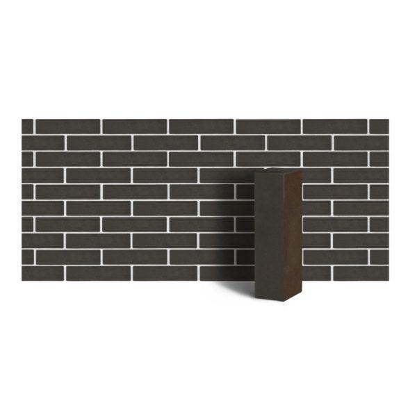 Клинкер фасадный полнотелый коричневый ангобированный тип 7Т 0,48NF