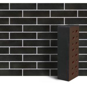 Клинкер фасадный чёрный матовый Рейкьявик 0,71NF гладкий