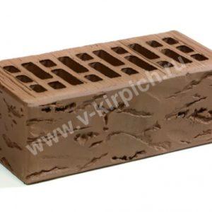 Кирпич лицевой керамический утолщенный терракотовый руст М150 ГОСТ530-2012