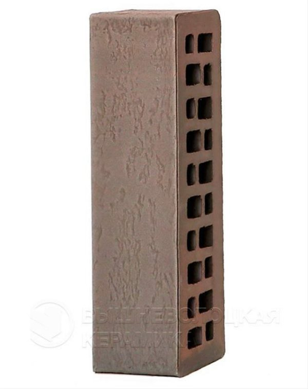 Кирпич с флеш обжигом Готика старая стена 0,7NF