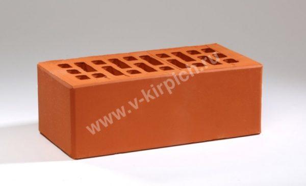 Кирпич лицевой керамический утолщенный красный М150 с утолщенной стенкой Воротынский