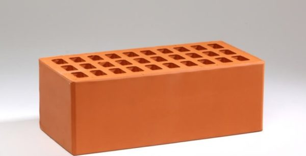 Кирпич лицевой керамический утолщенный красный М150 Воротынский