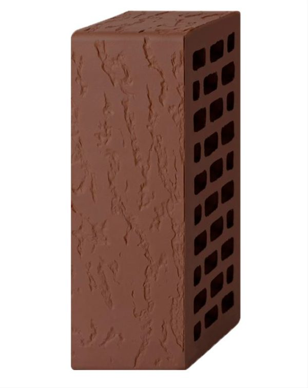 Кирпич лицевой темно-коричневый дуб 1,4NF