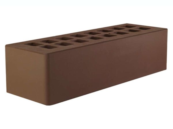 Кирпич тёмно-коричневый 0,7НФ Евро ЖКЗ 250х85х65