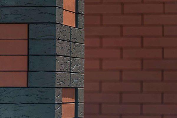Кирпич Браер коричневый рифлёный 1NF 250х120х65