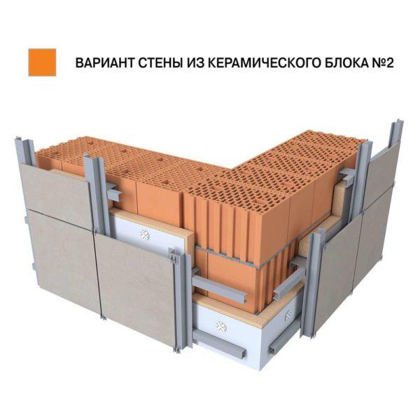 Керамический поризованный блок BRAER 10,7 НФ 380х250х219