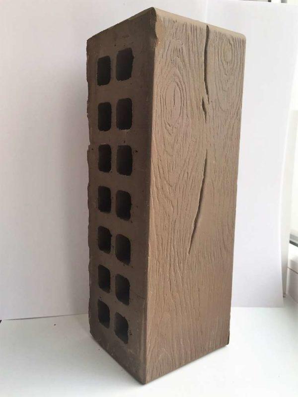 Кирпич тёмно-коричневый Дерево 0,7НФ Евро ЖКЗ 250х85х65