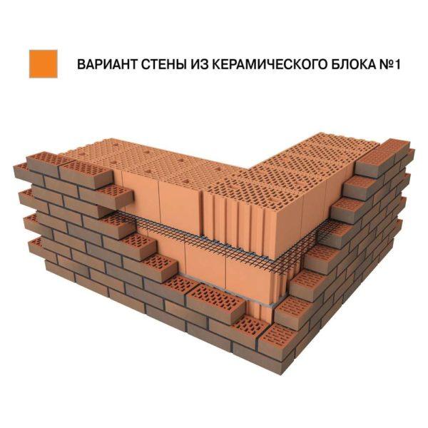 Керамический поризованный блок BRAER 12,4 НФ 440х250х219