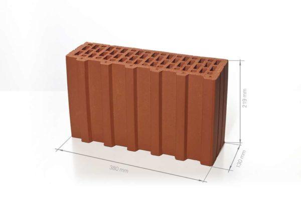 Керамический поризованный блок BRAER 5,2 НФ 380х130х219