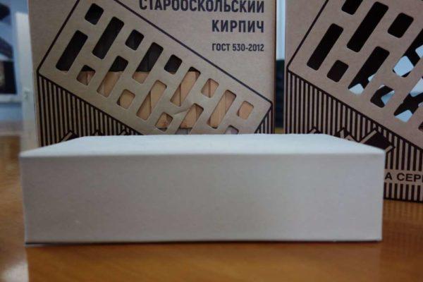 Кирпич белый полнотелый 1НФ ОСМиБТ Старый Оскол 250х120х65