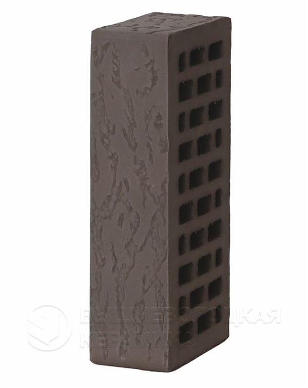 Кирпич лицевой темно-коричневый дуб 1NF