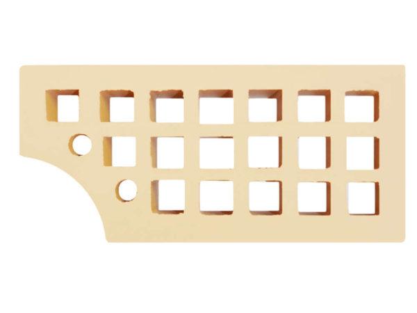 Кирпич фасонный лицевой КФ-1 Слоновая кость 1,4НФ ЖКЗ 250х120х88