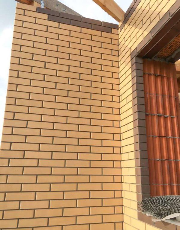 Кирпич золотистый 0,7НФ Тербунский Гончар Евро 250х85х65
