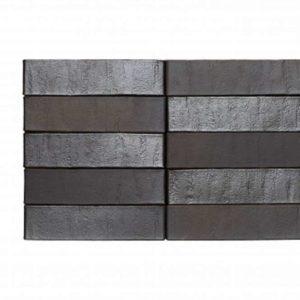 Кирпич Рекке RECKE BRICKEREI 5-32-00-2-00 чёрный ангоб на коричневом 1НФ 250х120х65