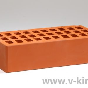 Кирпич лицевой керамический одинарный красный М125 ГОСТ 530-2012