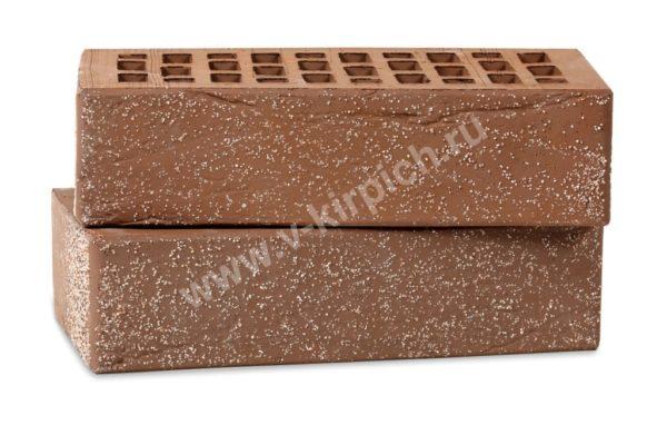 Кирпич лицевой керамический одинарный терракотовый кварц мелкий винтаж М150 Воротынский