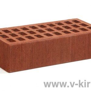 Кирпич лицевой керамический одинарный бордо бархат М150 ГОСТ 530-2012