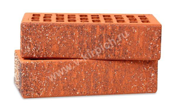 Кирпич лицевой керамический одинарный красный графит кварц М150 Воротынский