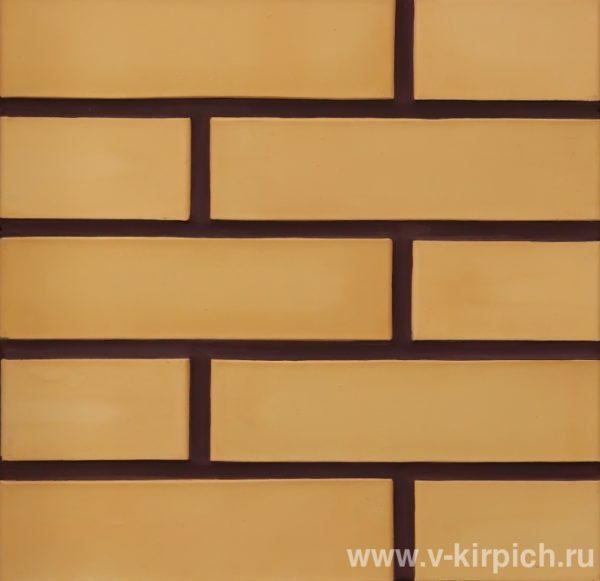 Кирпич лицевой керамический одинарный соломенный М175 Воротынский