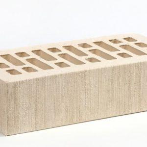 Кирпич лицевой керамический одинарный белый жемчуг бархат М175 Воротынский