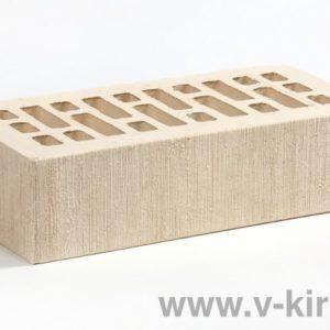Кирпич лицевой керамический одинарный белый жемчуг бархат М175 ГОСТ 530-2012