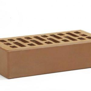 Кирпич лицевой керамический одинарный коричневый М150 Воротынский