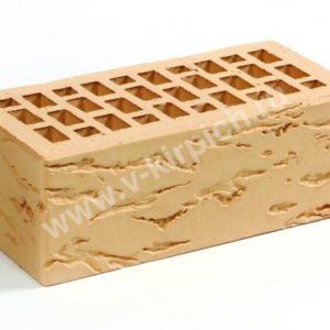 Кирпич лицевой керамический утолщенный соломенный руст М175 ГОСТ 530-2012