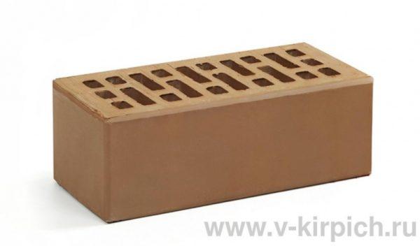 Кирпич лицевой керамический утолщенный коричневый М150 Воротынский