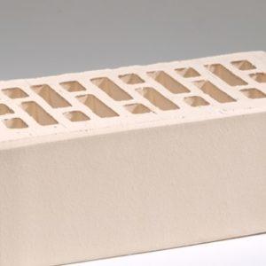 Кирпич лицевой керамический утолщенный белый жемчуг М175 Воротынский