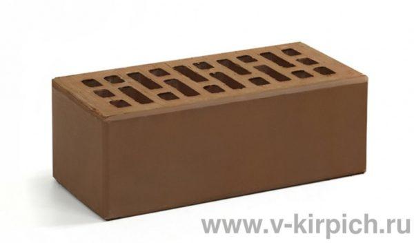Кирпич лицевой керамический утолщенный терракотовый М150 Воротынский