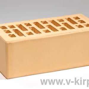 Кирпич лицевой керамический утолщенный соломенный М175 ГОСТ 530-2012