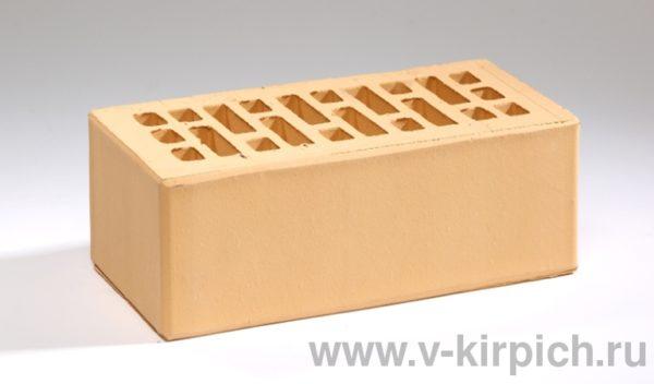 Кирпич лицевой керамический утолщенный соломенный М175 Воротынский