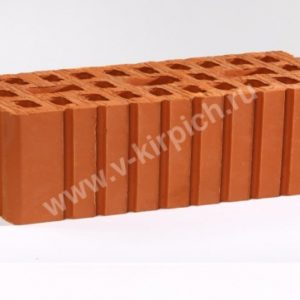 Кирпич рядовой керамический одинарный красный рифленный М150 ГОСТ 530-2012
