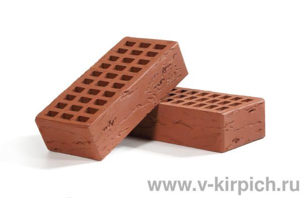 Кирпич лицевой керамический одинарный бордо руст М150 Воротынский