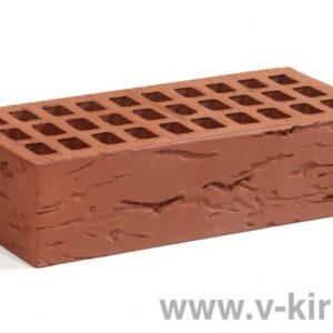 Кирпич лицевой керамический одинарный бордо руст М150 ГОСТ 530-2012