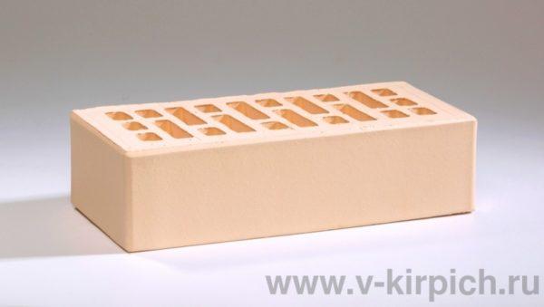 Кирпич лицевой керамический одинарный слоновая кость М175 Воротынский