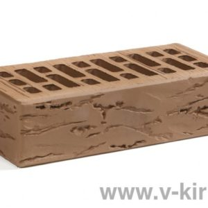Кирпич лицевой керамический одинарный терракотовый руст М150 ГОСТ 530-2012